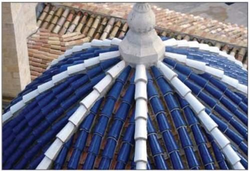 Dome Of The Church Of San Clemente Church Glazed Cobalt