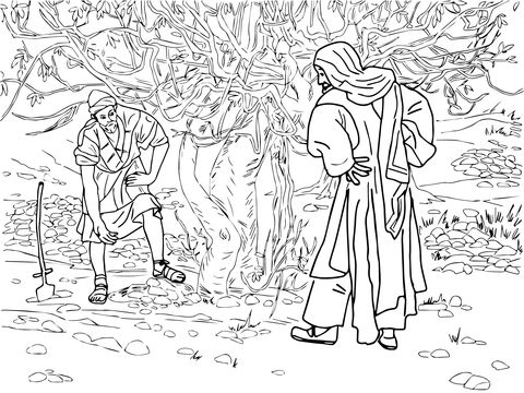 Barren Fig Tree Parable Coloring page ΠΑΣΧΑ - EASTER Pinterest - new coloring page fig tree