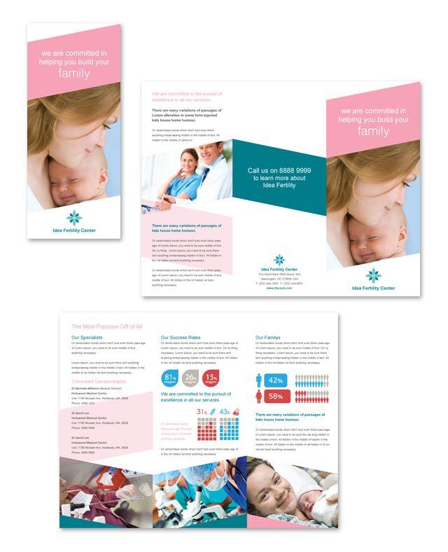 Fertility Hospital Tri Fold Brochure Template HttpWwwDlayouts