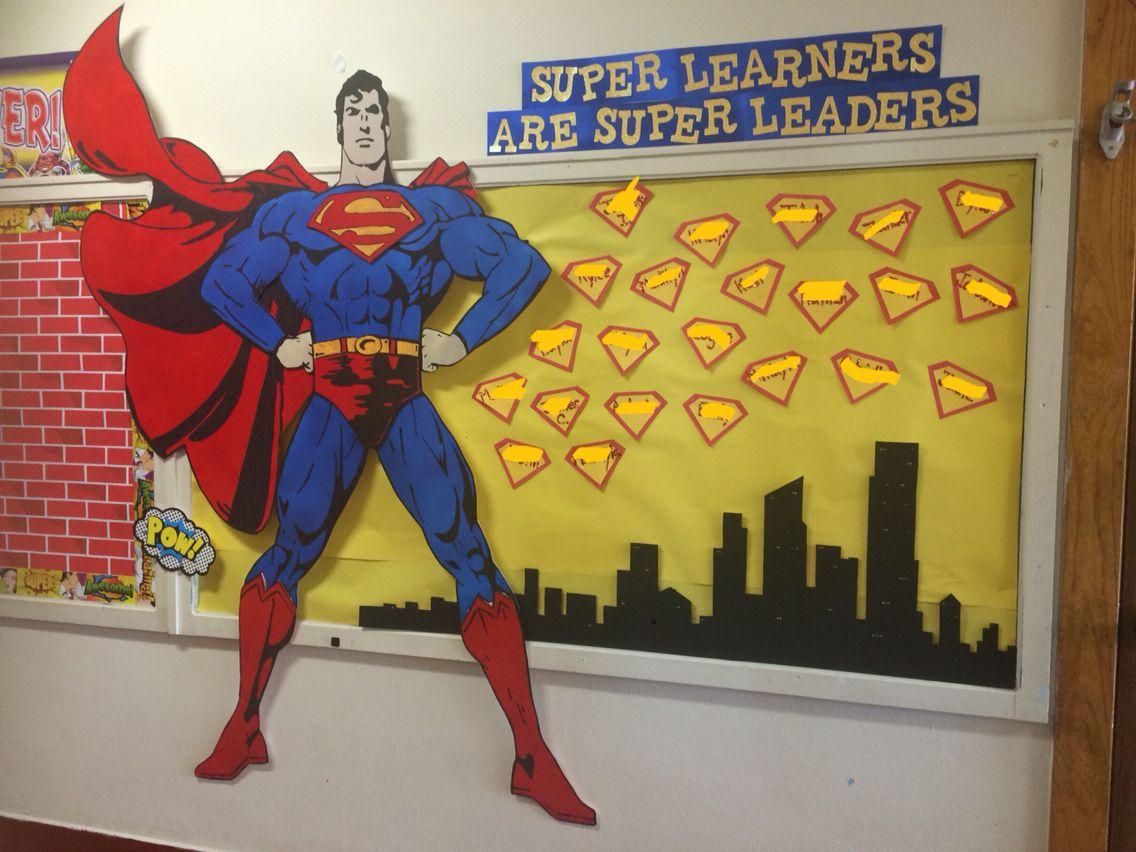 Superman Superhero Bulletin Board