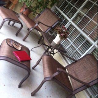 Comfy patio set: Lanexa conversation set from Sears!