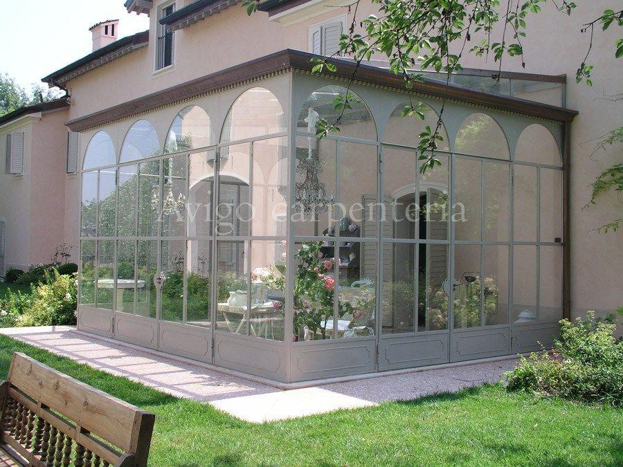 Giardino D Inverno In Terrazza: Tettoia in alluminio per giardini dinverno SU...