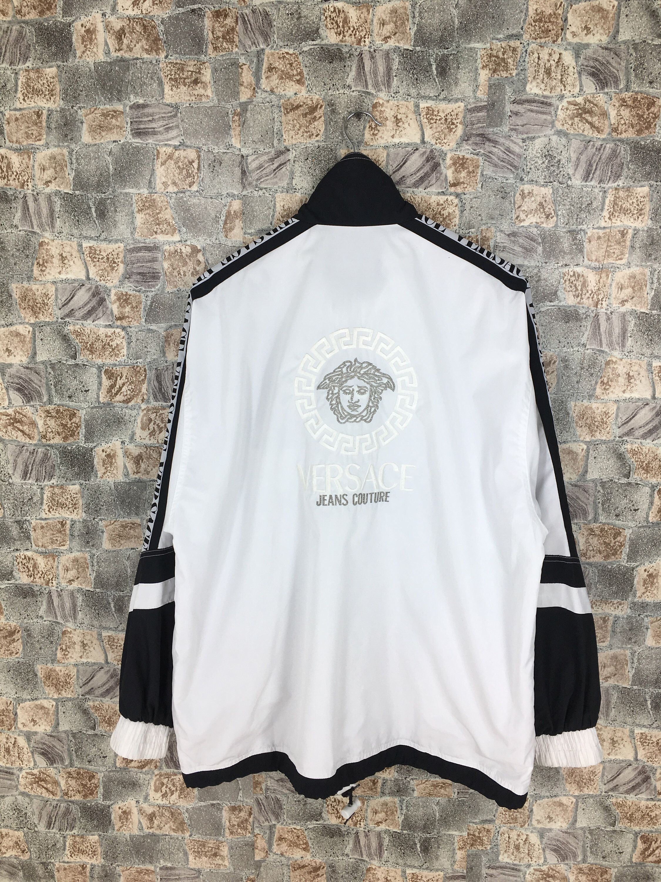 Excited To Share The Latest Addition To My Etsy Shop Vintage Versace Jeans Couture Jacket White Large Versace Sweatshirt Versace Jacket Versace Jeans Couture