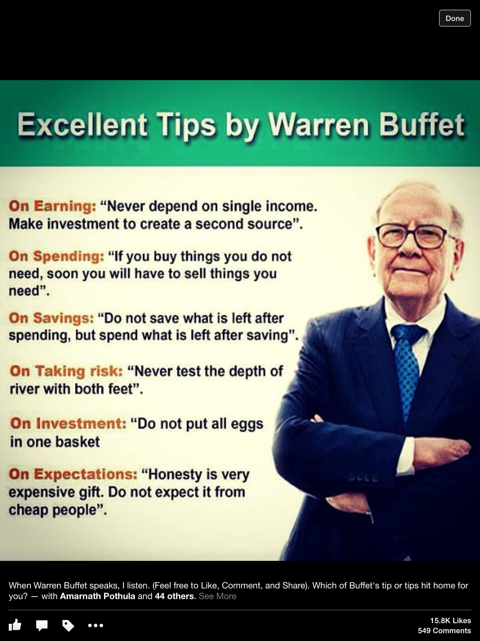 Tips By Warren Buffet Financial Planning Warren Buffet Finance