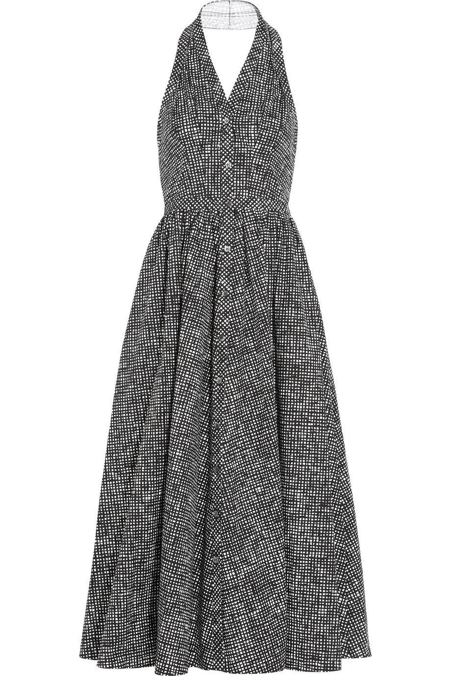 Michael kors printed cottonpoplin dress michaelkors cloth dress