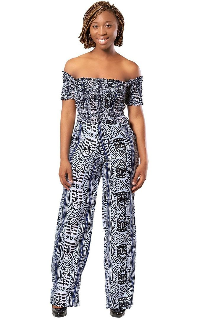 African print Zona Jumpsuit (Black & White)