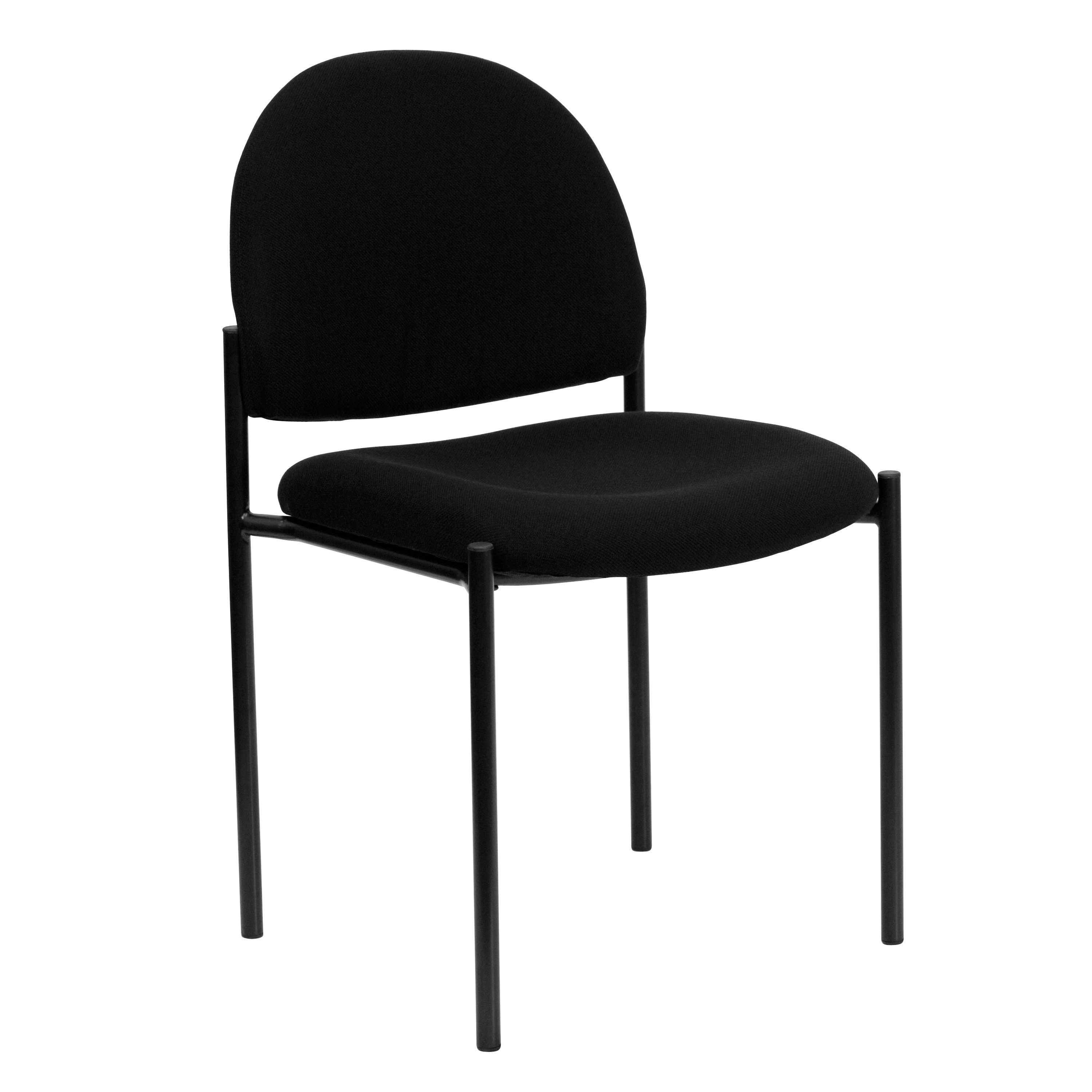 Pagoda Black Upholstered Stack Dining Chairs (Black Upholstered Stack Dining Chairs Set of 4) (Metal)