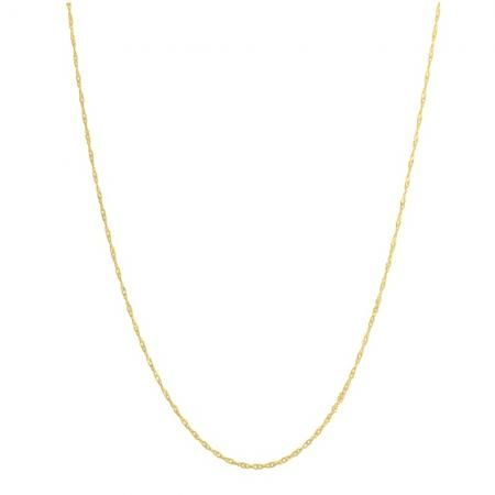 10 Karat Yellow Gold Loose Rope Chain Necklace 18 Inch Dazzling Rock Gold Necklace Friend Jewelry