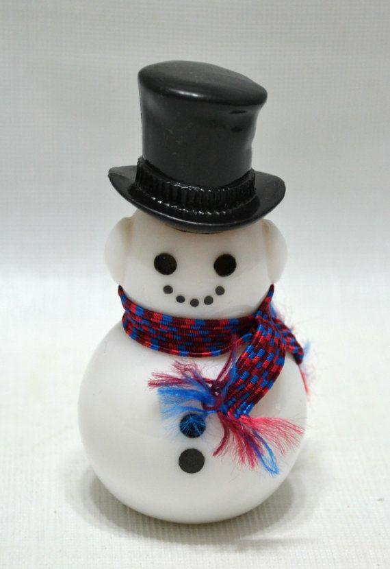 vintage snowman bottle