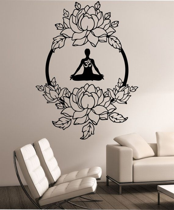 Open-Minded Elephant Buddha Quotes Namaste Wall Decals Yoga Mandala Wall Stickers Living Rooms Diy Home Decor Yoga Lotus Decoration Fine Quality Home & Garden Wall Stickers