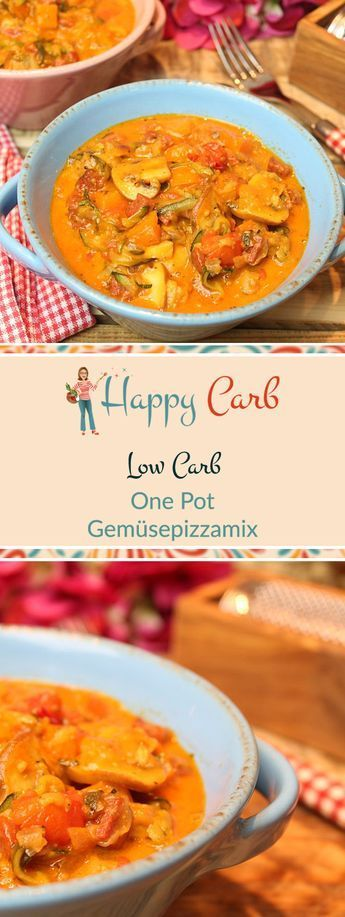 One Pot - Low-Carb-Gemüsepizzamix - Happy Carb Rezepte #easyonepotmeals