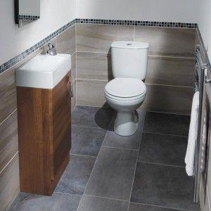 under-stair bathroom.   small bathroom, space saving