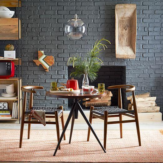 Round Adjustable Bistro Table | West Elm