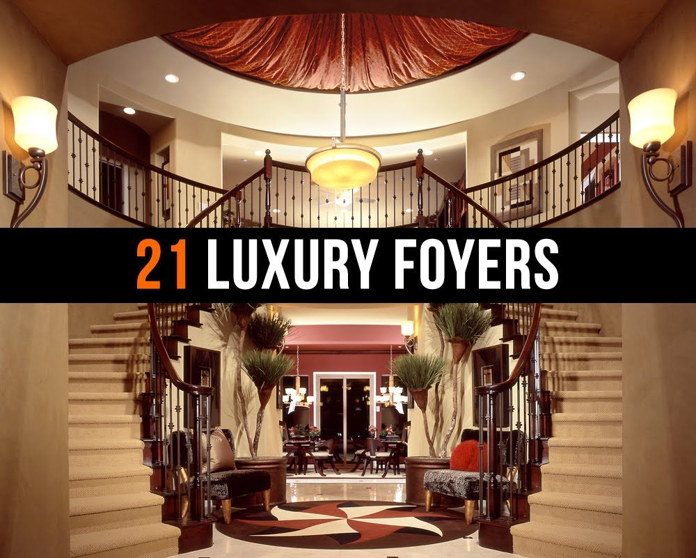 Luxury hallway furniture   Luxury Foyers and Entrance Ways  VIDEO  Foyer and Staircase