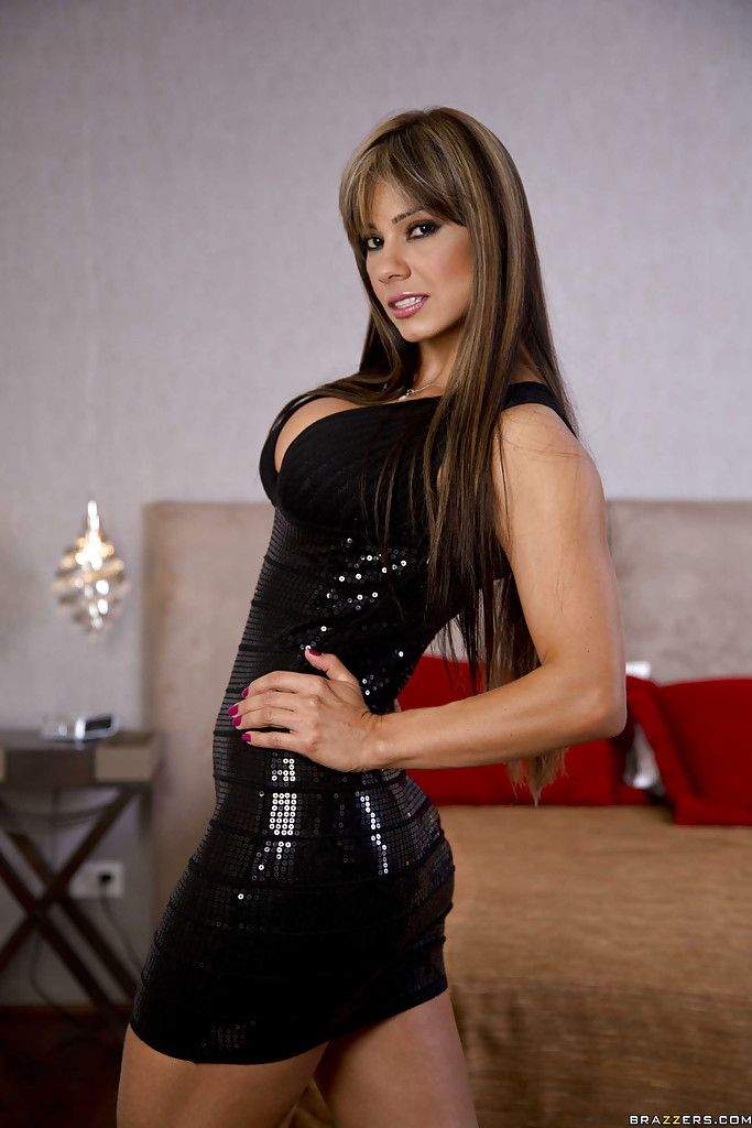 Hot latina milf esperanza gomez slipping off her dress and lingerie porn pics porno pictures