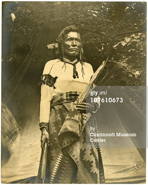 1895 Enno Meyer photograph Portrait of a Cree man at the Cincinnati Zoo, during the Cree encampment of 1895, Cincinnati, OH. The zoo invited a group of Cree Indian performers who had been abandoned by their organizer in Bellevue, Kentucky, to stay at the zoo until they raised enough money to return home to Havre, Montana. (Photo by Enno Meyer/Cincinnati Museum)