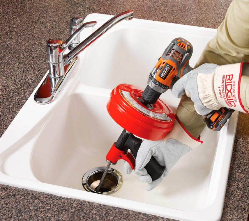 Drain Cleaner Power Spin Plumbing Auger Snake Tool Cable Switch Cleaning Ridgid Ridgid Drain Cleaner Stopped Up Toilet Drain