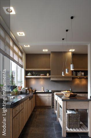 Natürliche Küche durch Holz und Granit Modern, Interiors and - fliesen für die küche