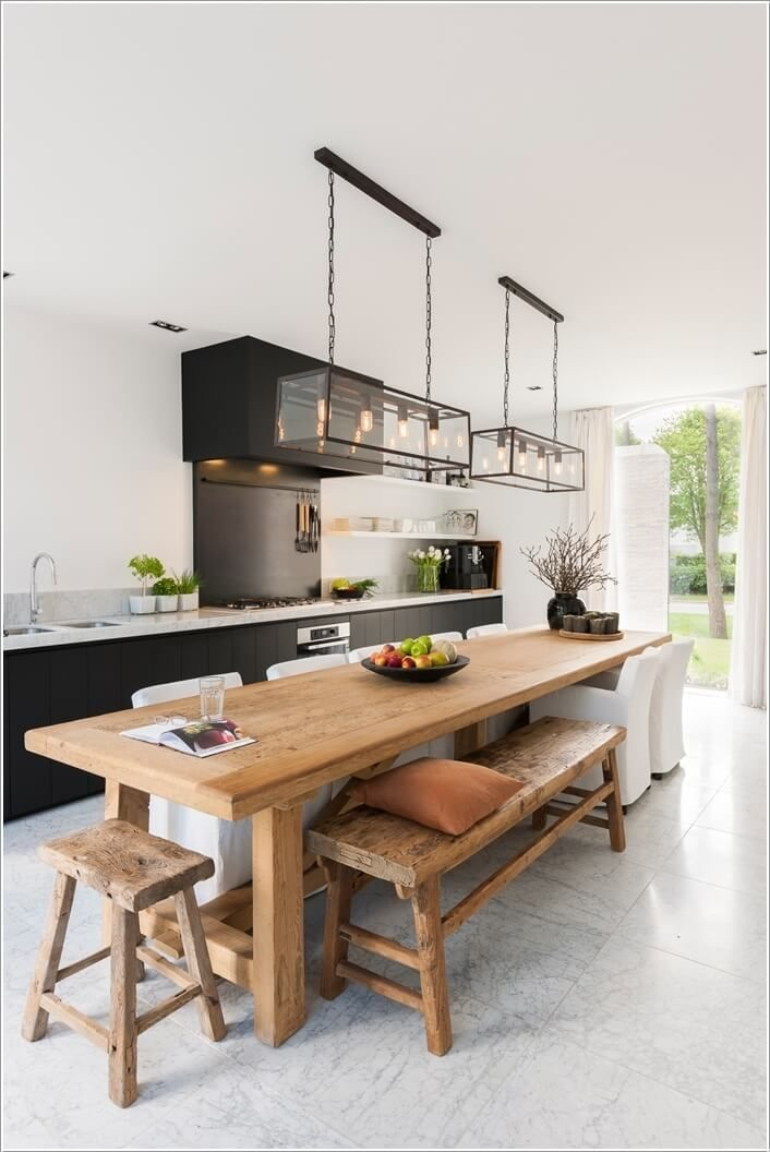 13 Kitchen Island Dining Table Ideas How To Make The Kitchen Island Dining Table Kitchen Island Dining Table Kitchen Table Wood Contemporary Kitchen