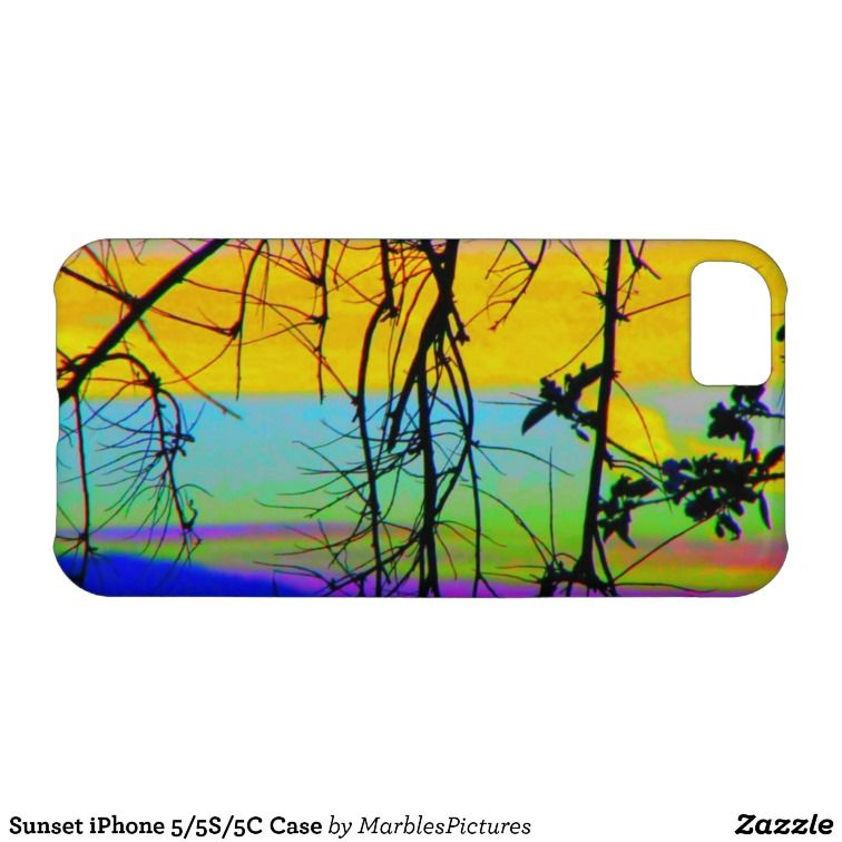 Sunset iPhone 5/5S/5C Case Nature Branches iPhone Case