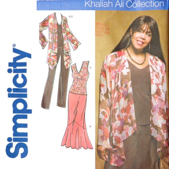 Womans Khaliah Ali Jacket And Tiered Skirt Sewing Pattern Big Bust
