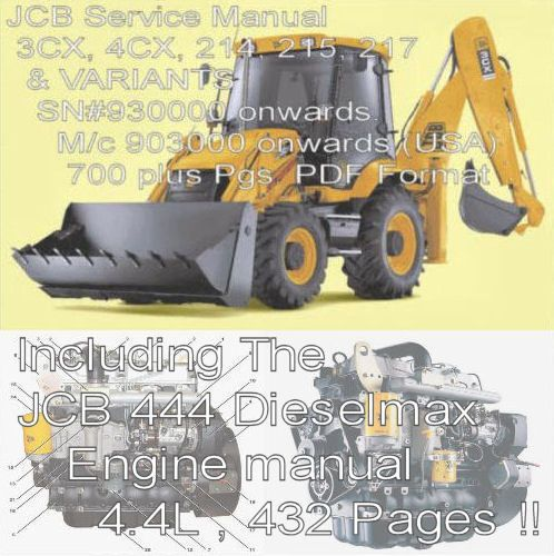Business & Industrial Jcb 3cx 4cx 214e 214 215 217 Dieselmax Service Manual Workshop Manual Cd Manuals & Literature