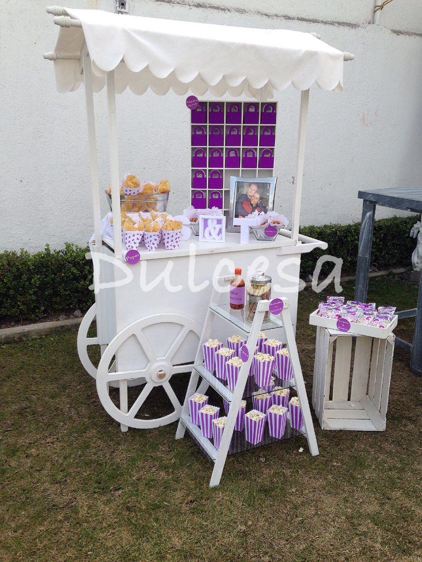 Mesa de dulces carreta morado lila despedida de - Sideboard lila ...