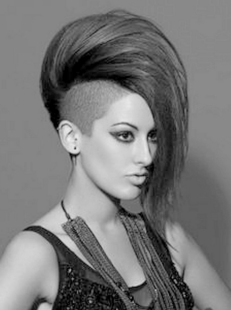 Mohawk Hairstyles For Women Balding With Half Shaved Hairstyles For Women Png 454 609 Shaved Side Hairstyles Short Hair Styles Side Hairstyles