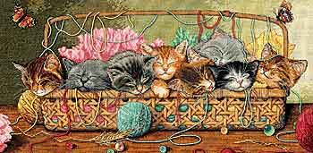 Kitty Litter Cross Stitch Kit from Dimensions Gold Collection