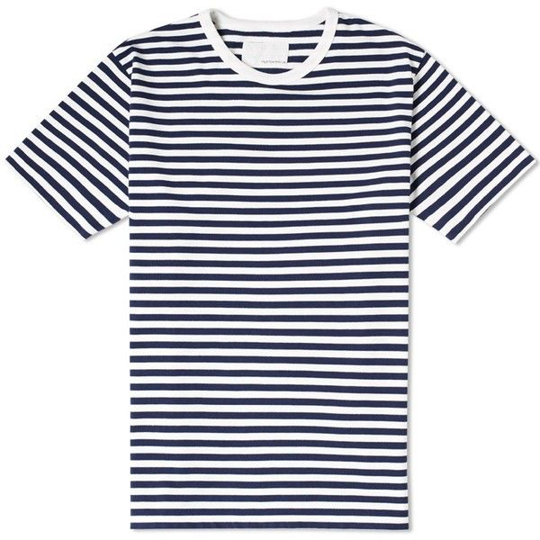 Nanamica Coolmax Stripe Jersey Tee  9970 Rsd  Liked On