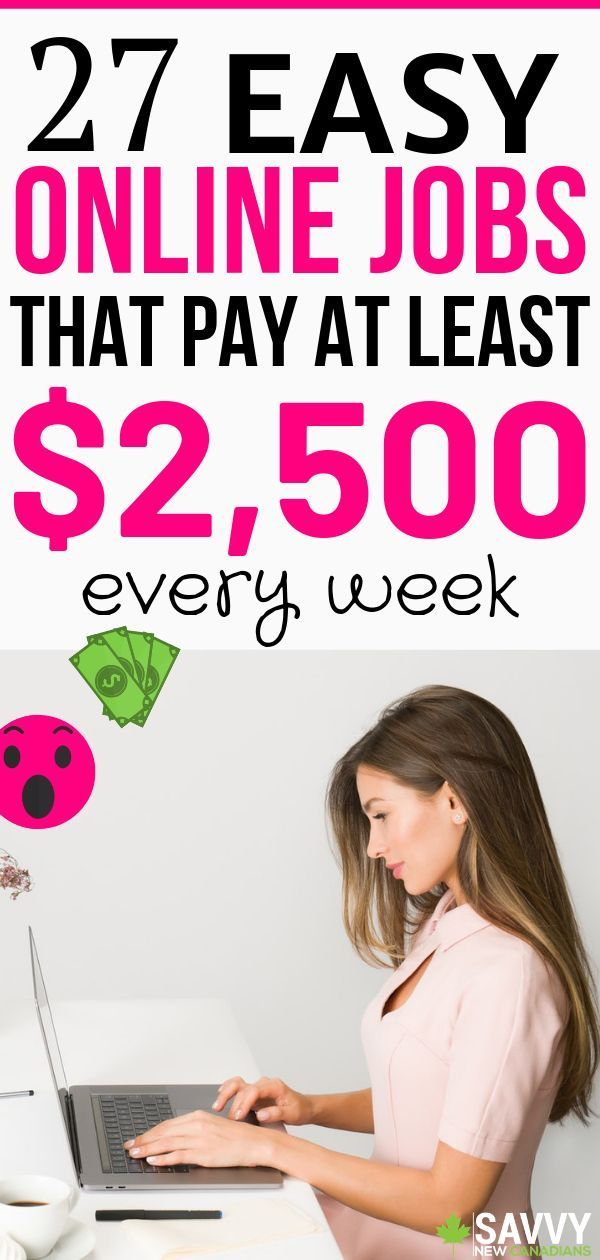 Want to make money online and from home? Check out this list of 27 online jobs that pay every week. You can earn up to $1500 per week. Start earning extra money working from home today! #workfromhomejobs #workathomejobs #legitworkathomejobs #makemoneyonline #earnmoneyonline #onlinejobsforstayathomemoms #workfromhome #workfromhomejobs #homebusiness #passiveincome