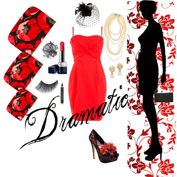 Dramatic, created on Polyvore