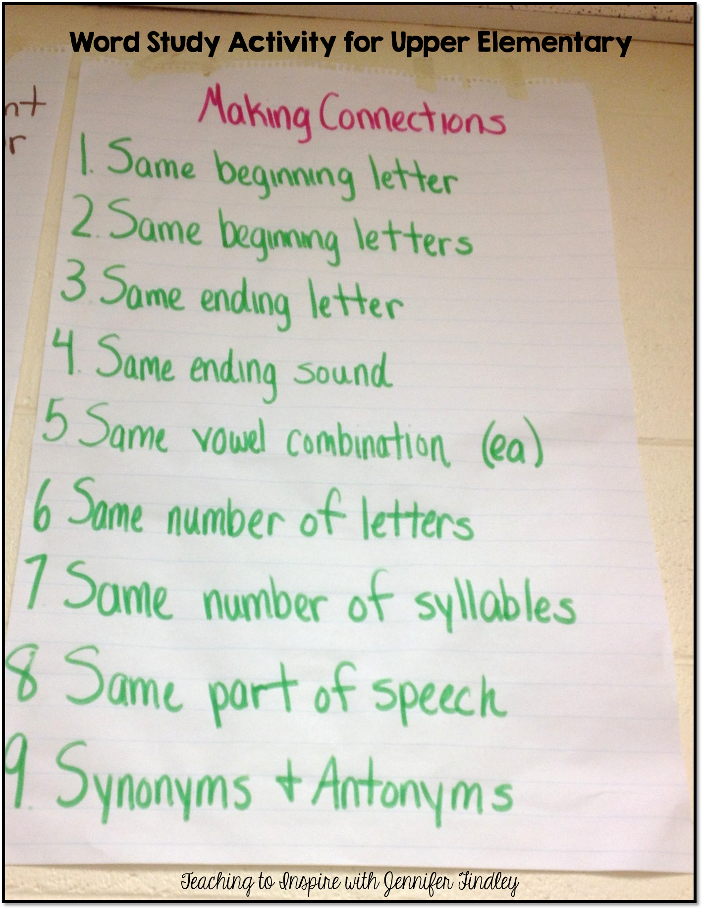 Free Word Study Activity For Upper Elementary