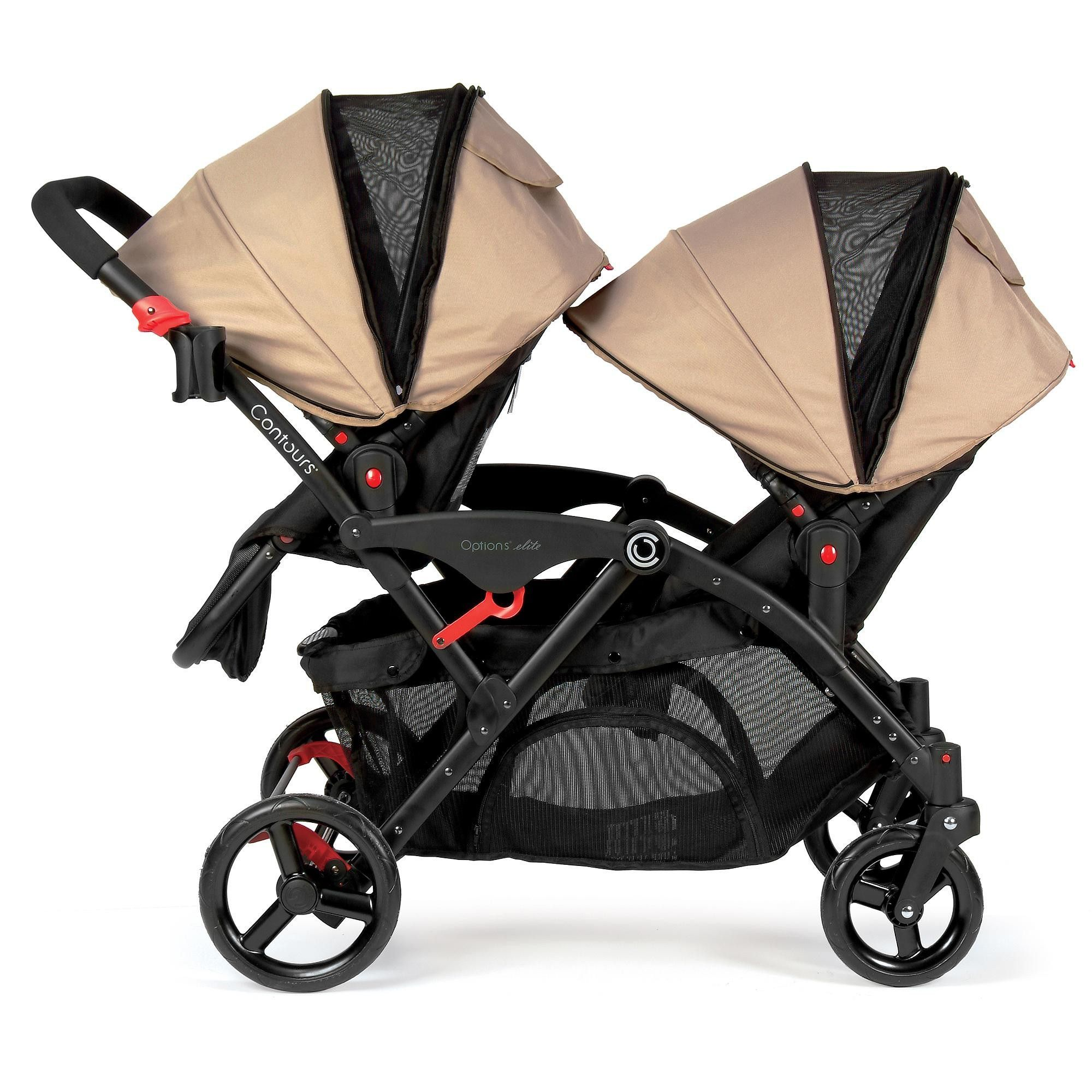 Travel System Tandem Stroller Graco Glacier Baby Infant Double Twin Stroller Travel
