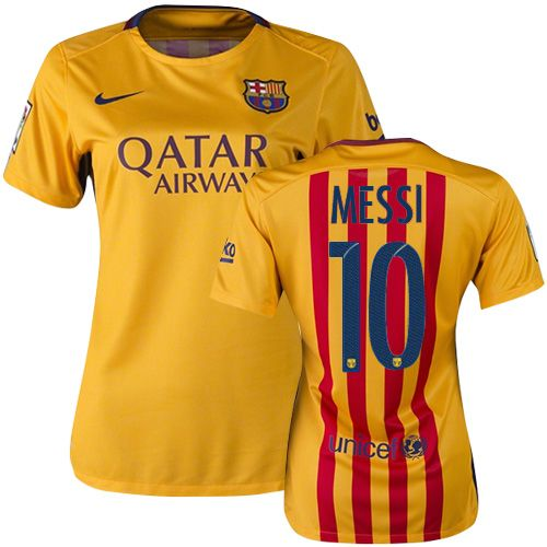 Lionel Messi Women s Home Soccer Jersey 15 16 Barcelona  10  f0f1ef5125