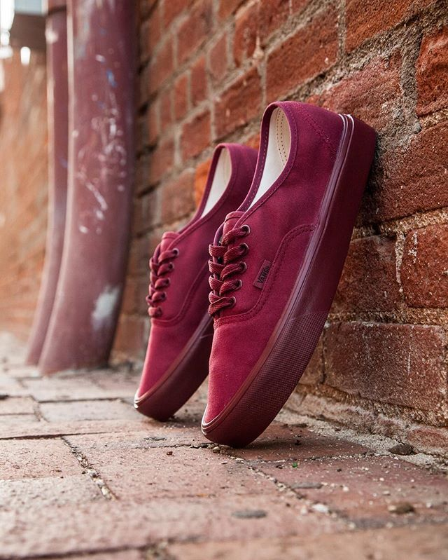 fbc8507e0b Vans Men s Authentic Lite - Mono Burgundy   cordovan is available in sizes  3.5-13 for  55 at BAITme.com footwear.  vans  vansauthentic  baitme  bait