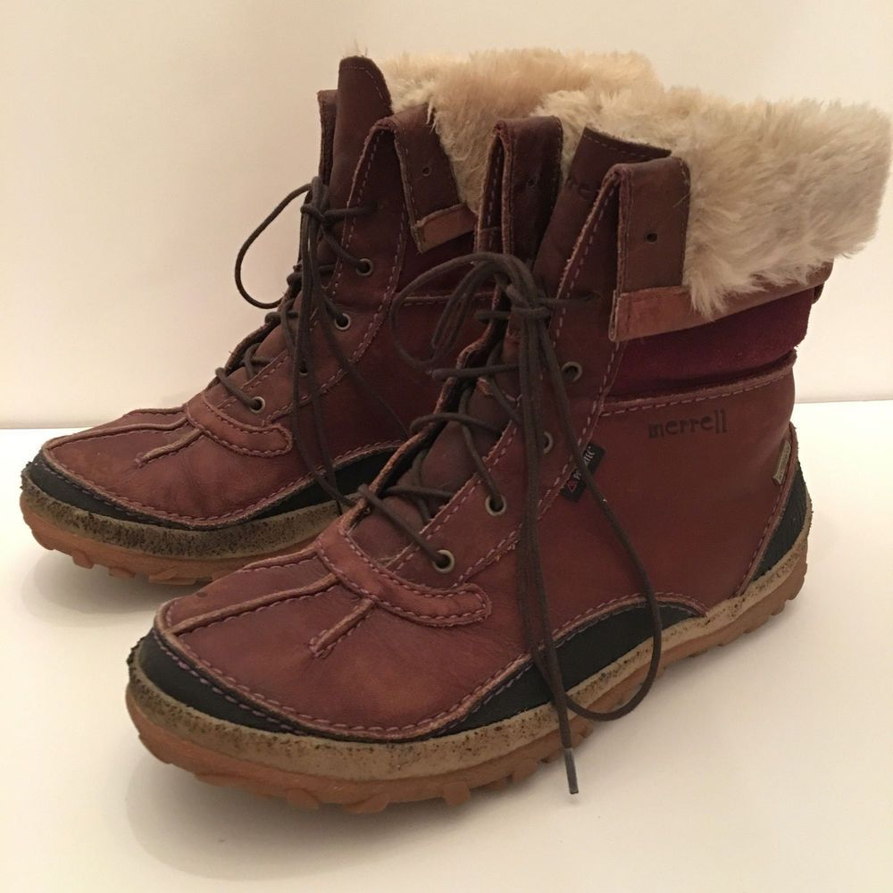 picked up pretty cool 100% authentic Womens Merrell Tremblant Mid Polar Waterproof Boot Sz 8 Rust ...