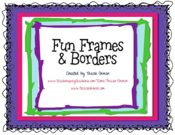 fun frames borders clip art for commercial use
