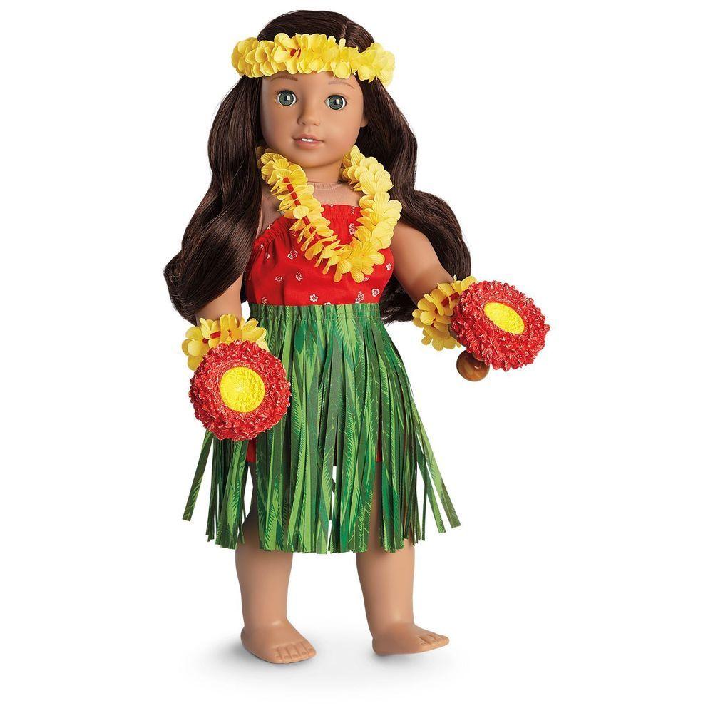 American Girl Doll Nanea\'s Hula Outfit & Holoku Dress NEW IN BOX