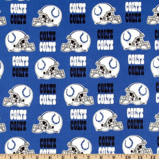 NFL Cotton Broadcloth Indianapolis Colts Blue White from  fabricdotcom  Cheer on the Indianapolis Colts your favorite NFL team with this NFL cotton  ... e7821550d