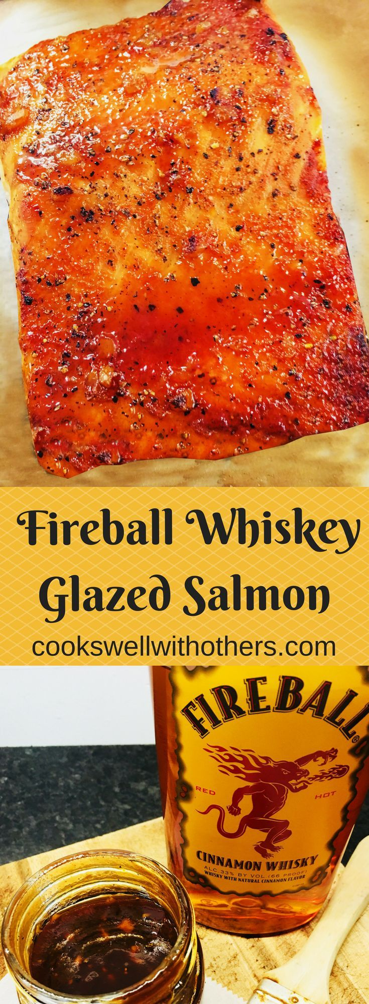 Photo of Salmon with Fireball Whiskey Glaze – Cooks Well With Others