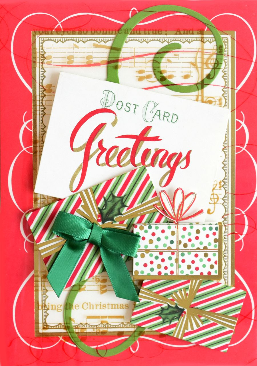 Hsn August 11th 2018 Christmas Acetate Layers Holiday Paper