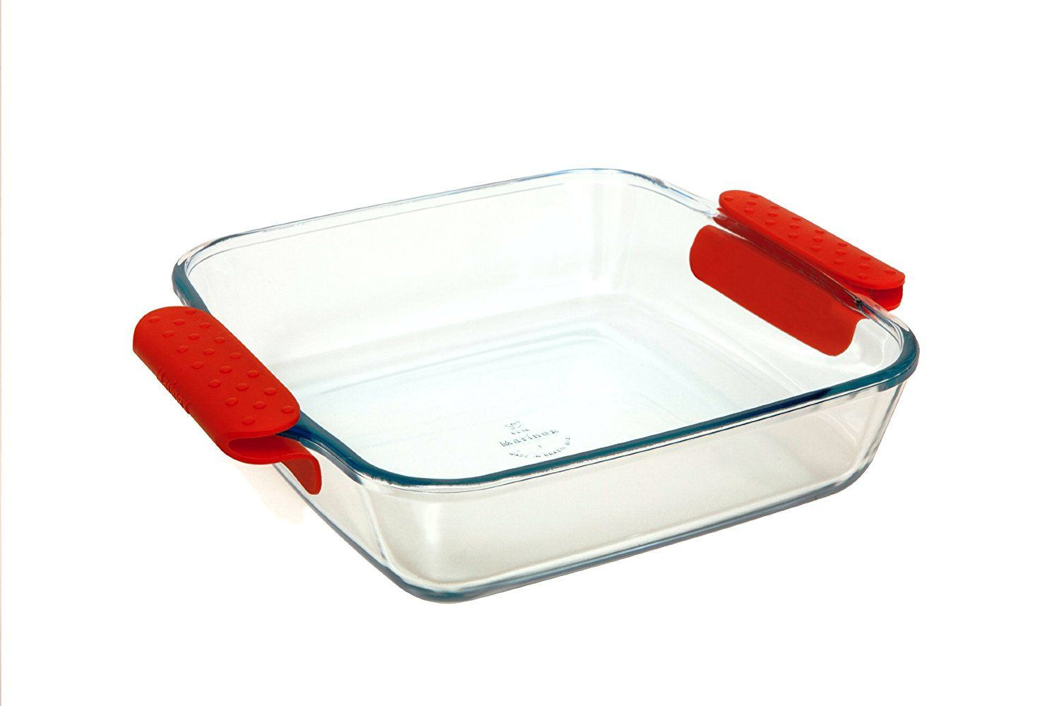 Marinex Prediletta Large Square Glass Roaster With Red Silicone Handles 4 Quart Startling Big Discounts Available Here Bakeware