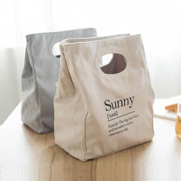 Reusable Organic Cotton Canvas Stylish Lunch Tote Bags