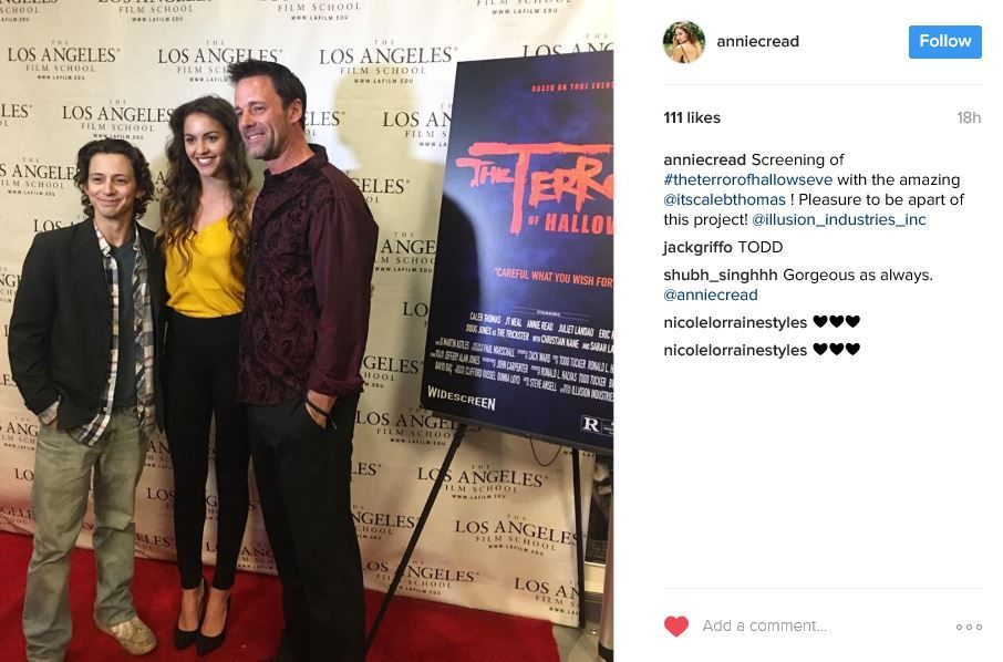 2-23-2017 share abt #TheTerrorOfHallowsEve premiere at LA FILM SCHOOL.. name on picture #ChristianKane in this movie but didn't attend premiere