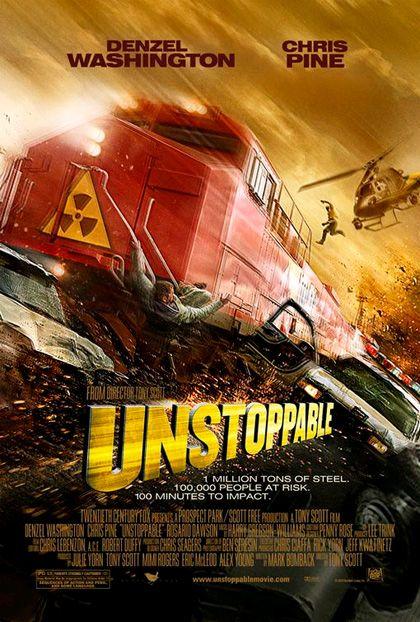 Unstoppable Fuori Controllo 2010 Train Movie Movie Theater Denzel Washington