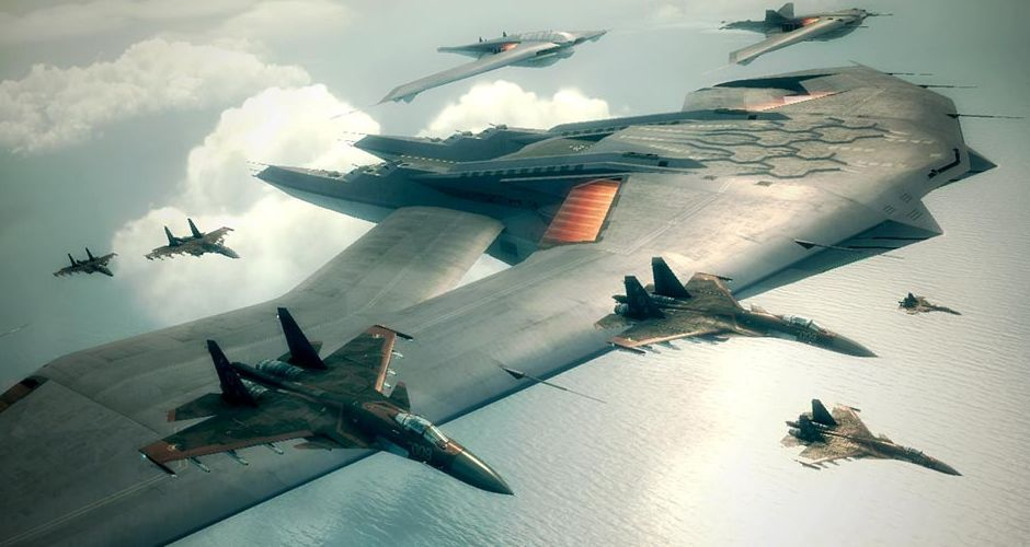 Aigaion Ace Combat 6 Aircraft Carrier Aircraft Fighter Jets