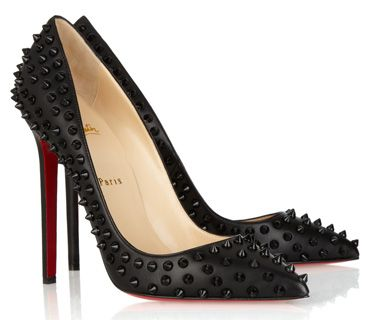 Christian Louboutin Pigalle Spikes Studded Pumps in black with ...
