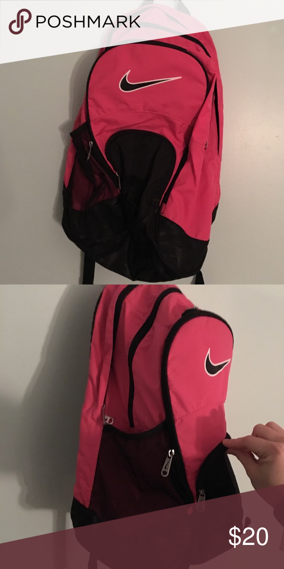 Pink Nike Backpack 5 zipper pockets, brand new condition Nike Bags Backpacks bb0a252255