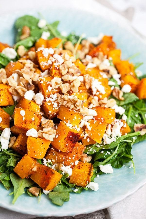 This Spiced Butternut Squash Salad is the perfect healthy ...